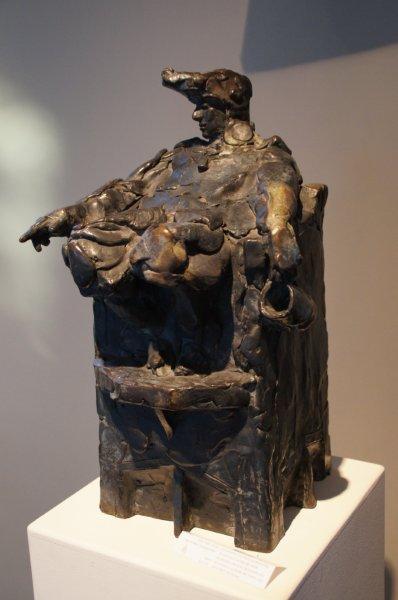 Bronzen beeld Dick Aerts