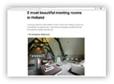 5 most beautiful meeting rooms in Holland