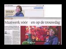 De Gelderlander – Maatwerk vóór en op de trouwdag